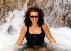 Louyse doing Aquafit in OCHO RIOS (Jamaica)
