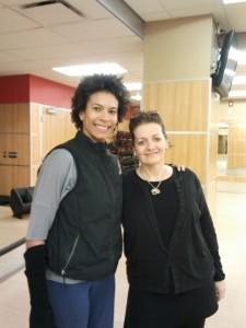 Louyse and Jennifer Dahl, trainer from Stott Pilates