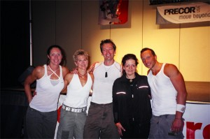 Louyse with Les Mills instructors: Emma Barry, Peggy Cleland, Dr. Dave McKenzie, Josef Matthews
