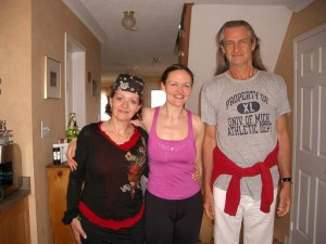 Jude Butler, yoga teacher from United Kingdom and Mark Whitwell, yoga guru from New Zealand and author of Heart of Yoga