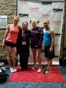 Louyse with Suzie, Sarah and Fred from Les Mills