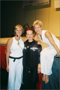 Jackie Mills (Les Mills, New Zealand), Louyse and Peggy Cleland (Good Life Fitness Club)