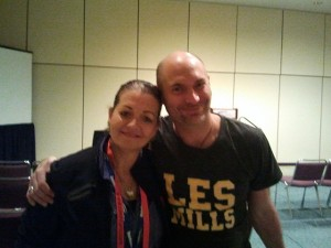 Louyse with David J. Olivier, Les Mills New Zealand