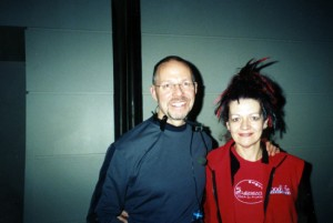 Louyse and Stephen Cope at the Yoga Show Conference in Toronto, Canada