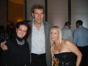 David Patchell-Evans (owner and founder of Good Life Fitness Clubs), Penny (GM Good Life Kings Point Brampton) and Louyse