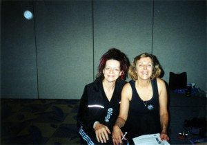 Louyse and Beryl Binder Birch at the Yoga Show Conference in Toronto, Canada